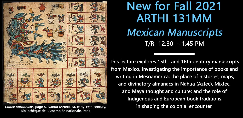 NEW COURSE: 131MM: Mexican Manuscripts