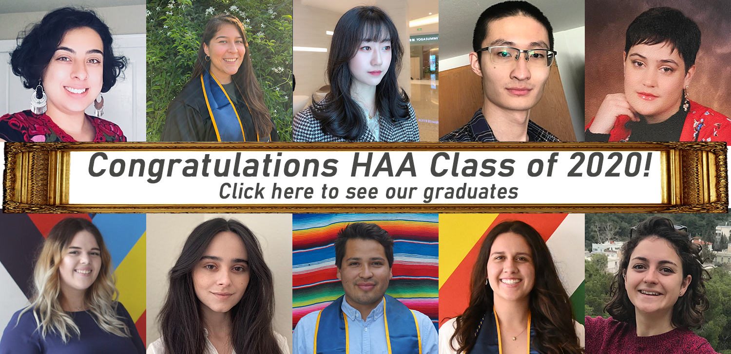 Congratulations to Our HAA 2020 Graduates
