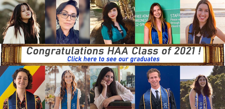 Congratulations 2021 HAA Graduates