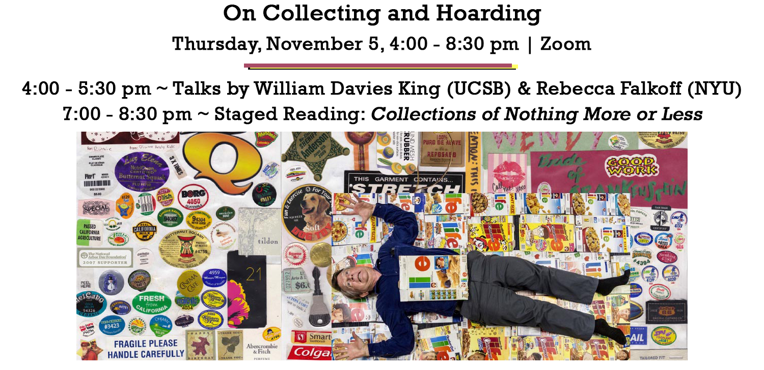 IHC Events: On Collecting and Hoarding