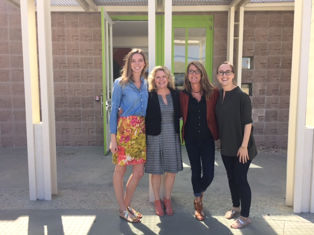 From the Fourth Annual AHGSA Alumni Panel in 2016, organizers Mallory Baskett (far left) and Erin Travers (far right) with HAA Graduate Alumni Heather Marx (M.A. 1994; center left) of Heather Marx Art Advisory and Lucia Ricciardelli (Ph.D. 2007; center right), Associate Professor in Film Studies at Montana State University
