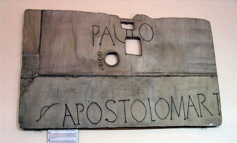 S. Paolo martyr inscription cast (image © Ann Marie Yasin)
