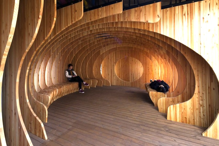 Rest hole in the University of Seoul, Jeonnong-dong, Dongdaemun-gu, Seoul, South Korea, by UTAA and architectural students of the University of Seoul, 2012 (photo © Jin Hyo-suk)