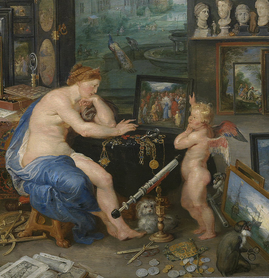 Jan Brueghel the Elder and Peter Paul Rubens, Allegory of Sight, detail, 1617 (Madrid, Museo Nacional del Prado, inv. 1394)