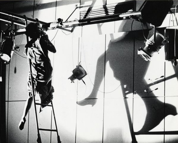Anna Halprin in Apartment 6,  Helsinki, Finland 1965.  Photo by Hank Kranzler, courtesy  of Performance + Design, San Francisco