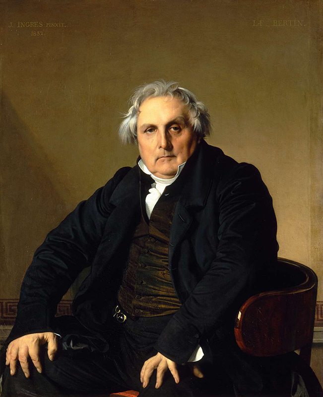 Jean Auguste Dominique Ingres, Portrait of French journalist Louis-François Bertin (1766-1814), 1832 (via https://upload.wikimedia.org/wikipedia/commons/e/ec/Louis-Francois_Bertin.jpg)